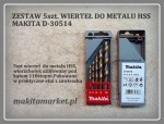 Wiertła do metalu HSS 5szt Makita D-30514